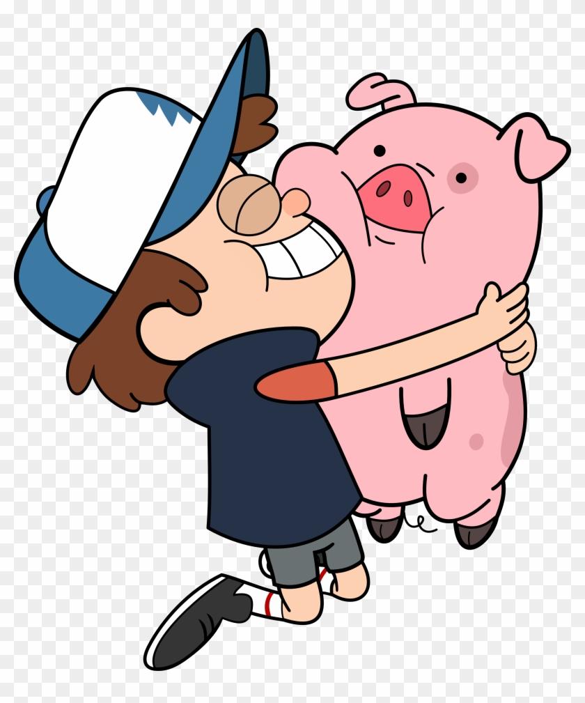 Cartoon Hug Clipart - Gravity Falls Dipper Y Pato #13020