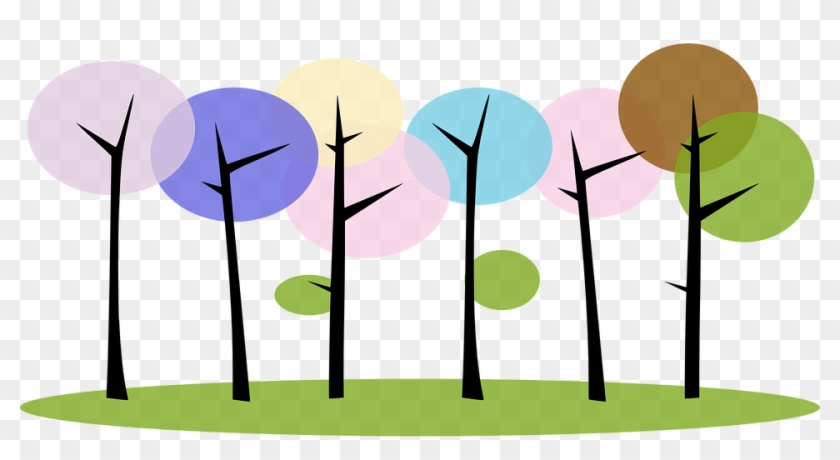 Forest Trees Nature Plants Abstract - Clip Art #13036
