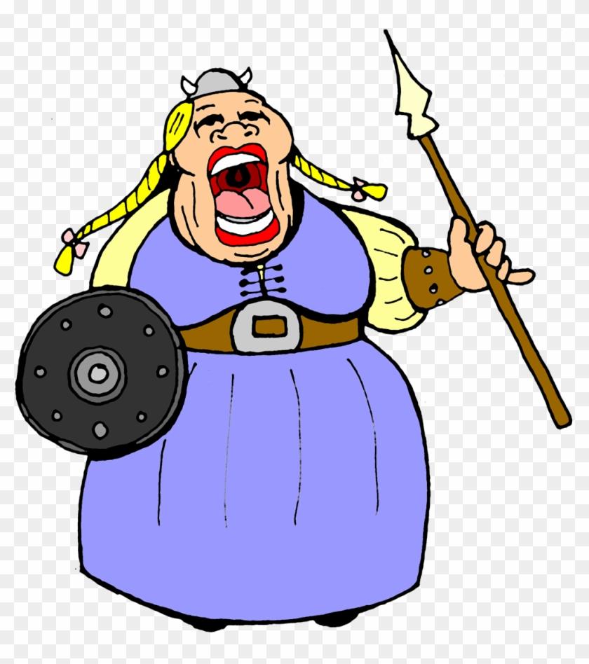 Opera Singer - Cartoon Fat Lady Singing #13039