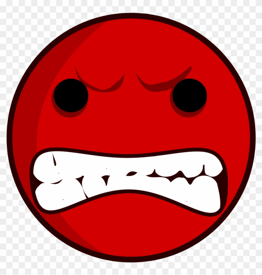 Angry Face - Cara Enfadada - Angry Faces Clip Art #13047
