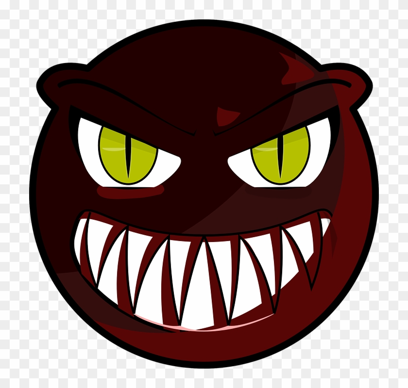Angry Smiley Face Expression Emotion Eyes Cartoon - Scary Monster Face Cartoon #13058