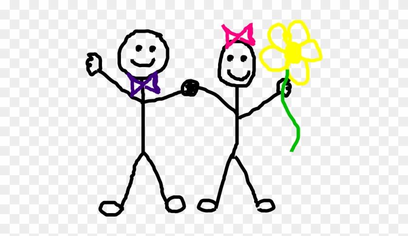 Stick Figure Kids/friends Clip Art At Clipart - Clip Art #13069