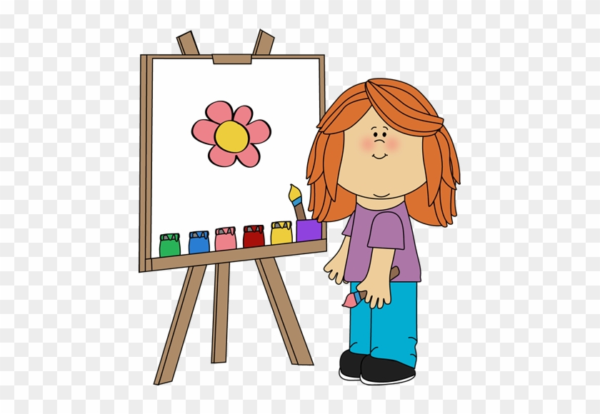 Girl Painting On Easel - Reading Exercises For Beginners #13135