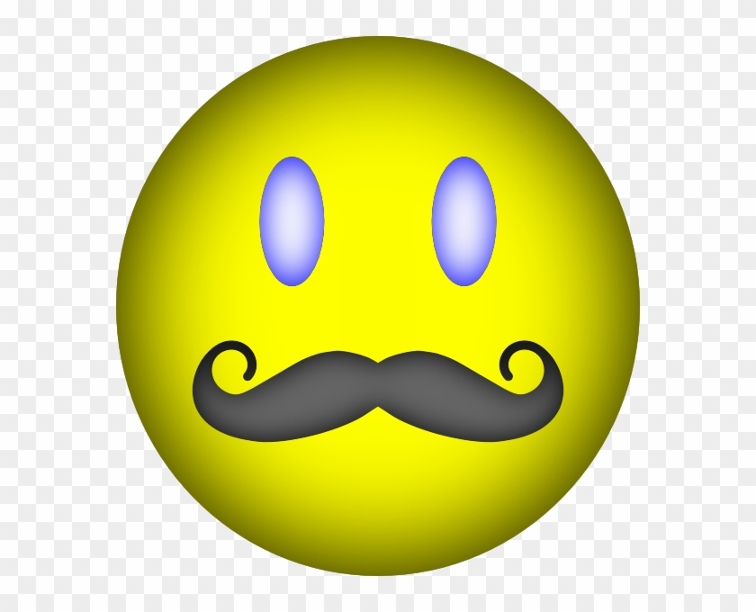 happy face mustache clip art at clker com vector clip smiley 13187