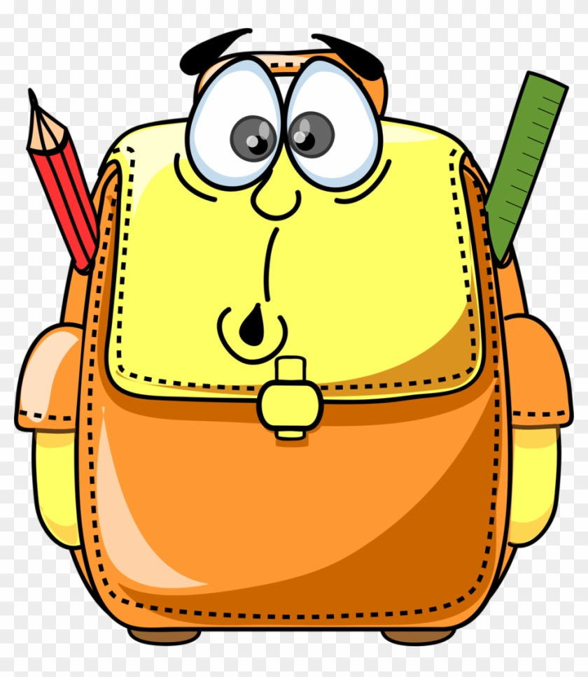 School Clipartclassroom - Cartoon School Bag #13194