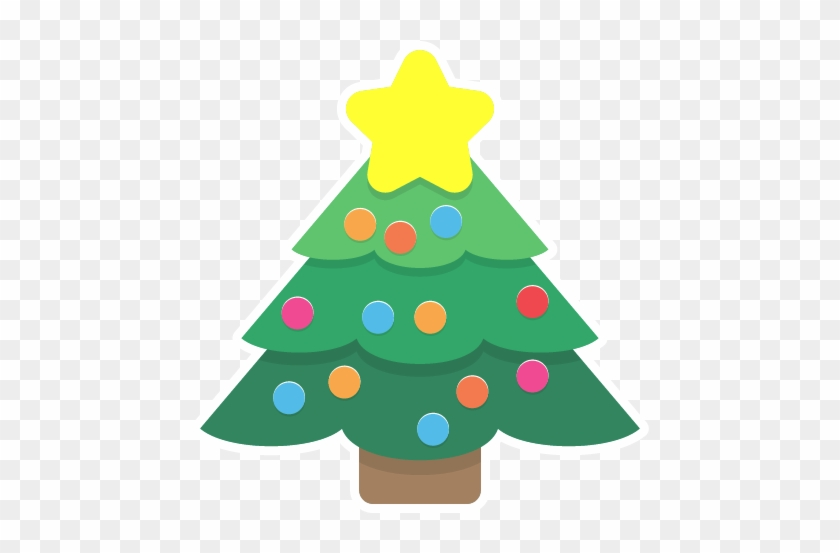 Cute Christmas Tree Clipart - Cute Christmas Tree Cartoon #13195