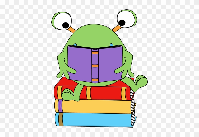Reading A Book Clip Art - Monster Reading Clipart #13205