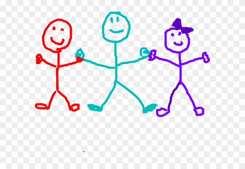 Stick Figure Children Clipart - Small Family Stick Figure #13212