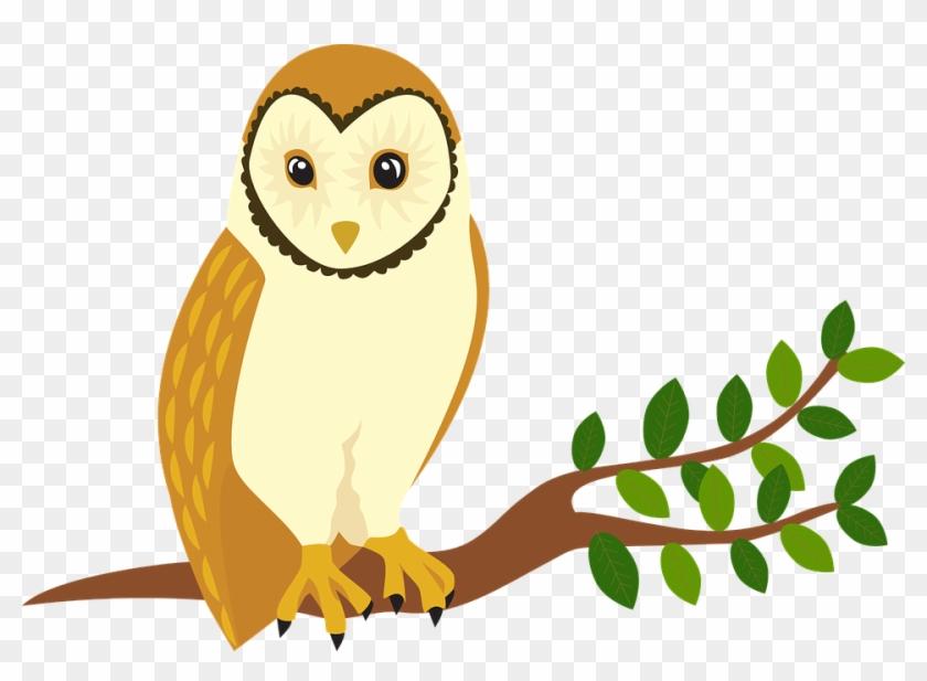 Owl Forest Animal Tree Bird - Owl #13226
