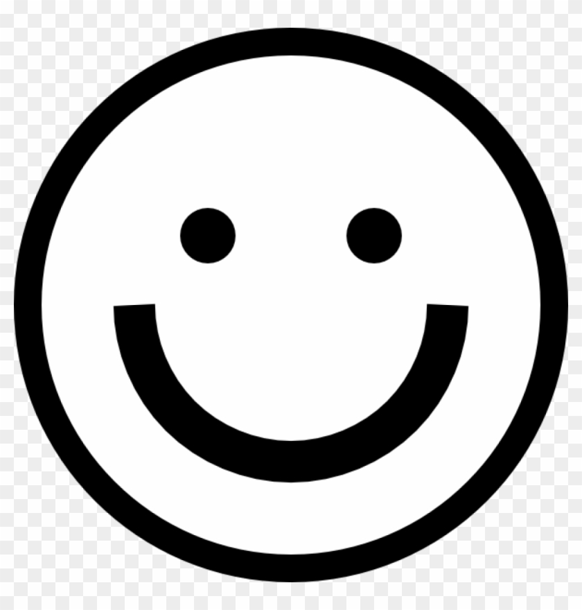 Smiley Face Black And White Smiley Face Clip Art At - Happy Emoji Black And White #13240
