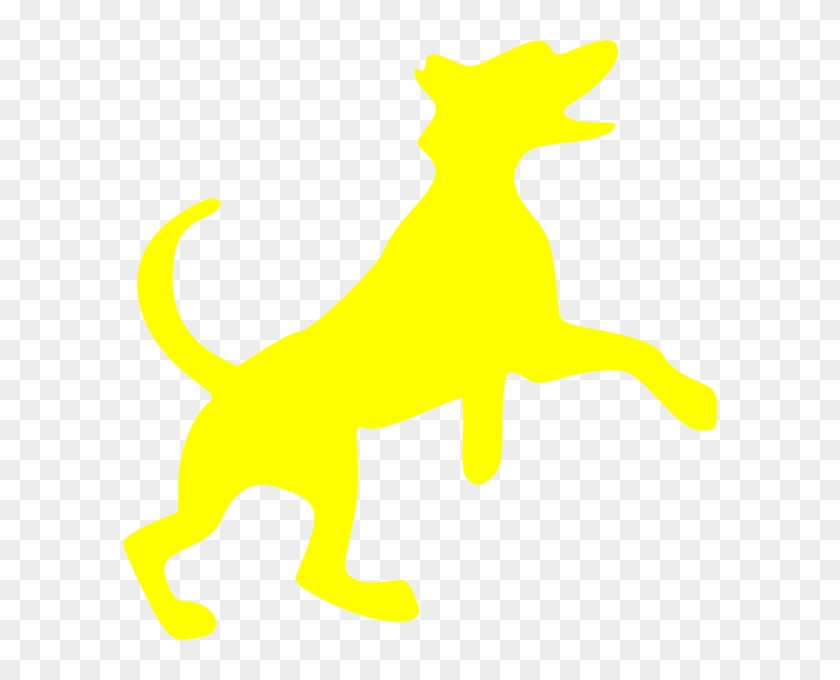 Yellow Dog Clip Art - Flyball Dog On Board Leaping Dog Paw Print Car Magnet #13271