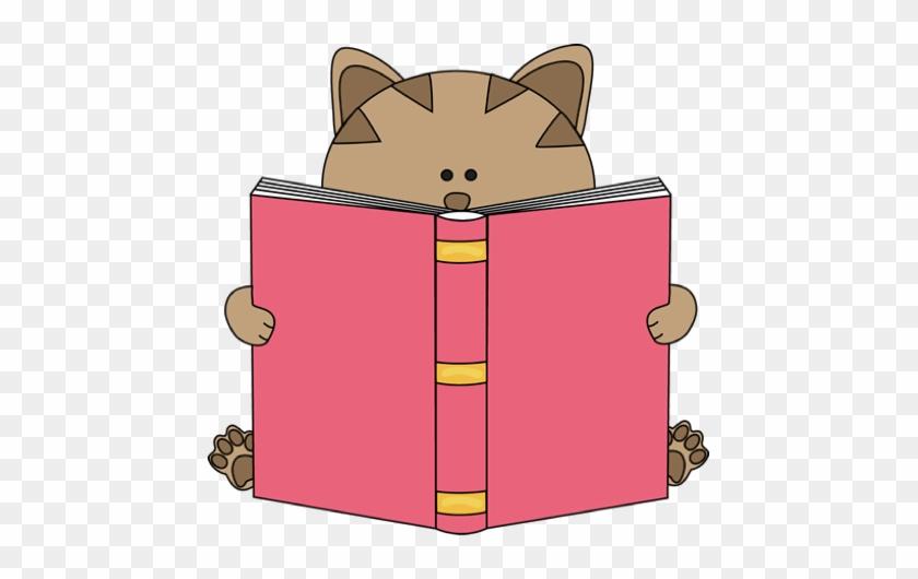 Cat Reading Book Clip Art - Cat Reading Clipart #13288