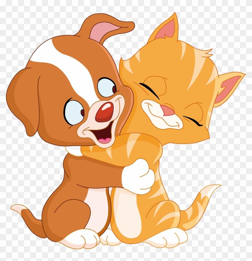 Cat Clipart Gato - Cartoon Cat And Dog #13313