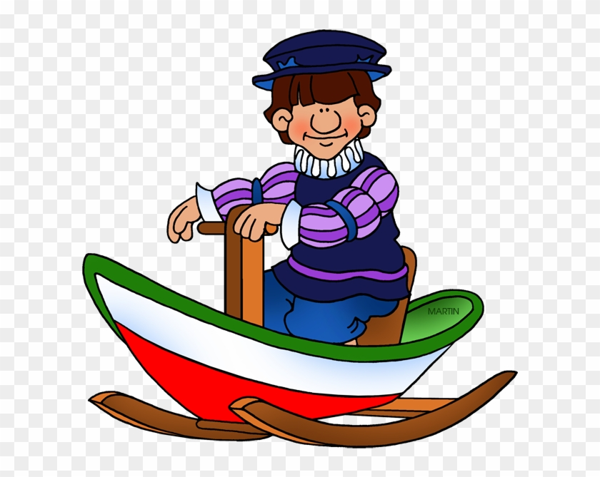 Explorers Clip Art By Phillip Martin, Young John Cabot - Explorers Clip Art By Phillip Martin, Young John Cabot #13326
