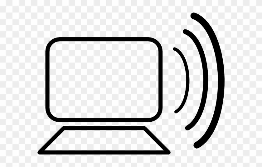 Free Vector Computer Wireless Signal Clip Art - Computer Clip Art #13336