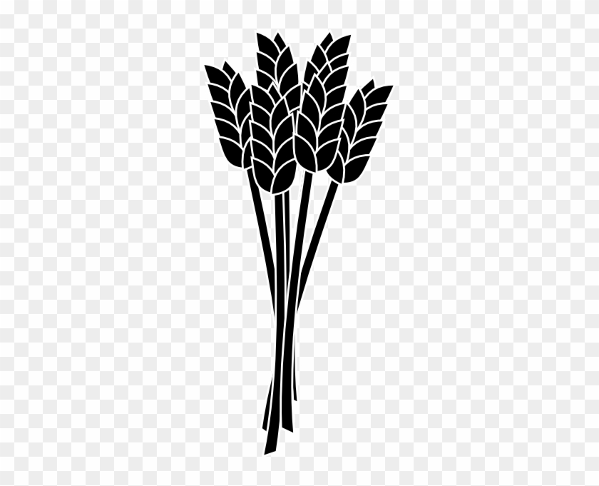 Wheat Black And White Clip Art #13338