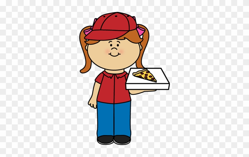 Pizza Clip Art - Pizza Delivery Girl Clipart #13342