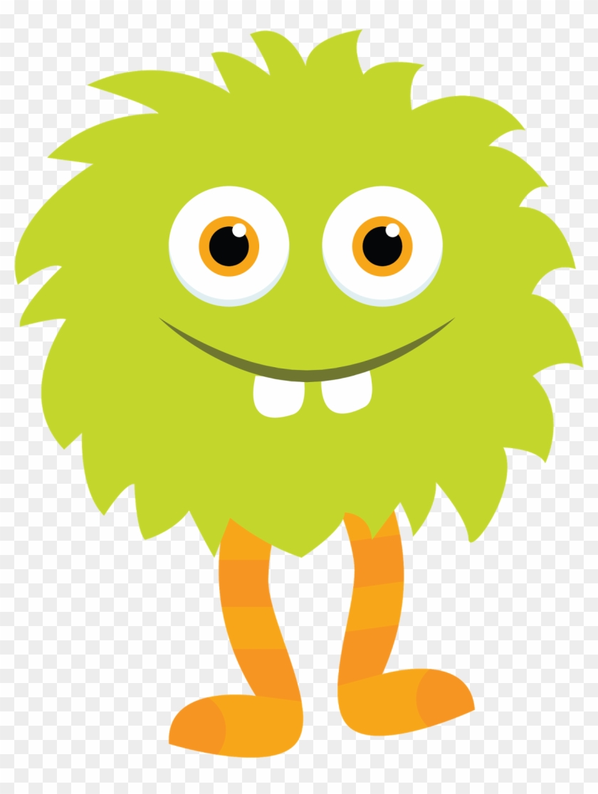 Little Monster Clipart Green Monster 2 By Little Apples - Monster Clipart #13357