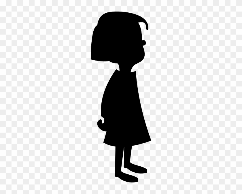 Little Girl Clipart Shadow - Cartoon Girl And Boy #13367