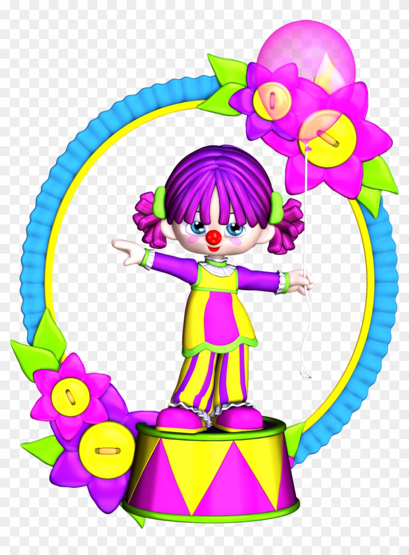 Clowns Clip Art - Birthday Clown Girl Clipart #13432