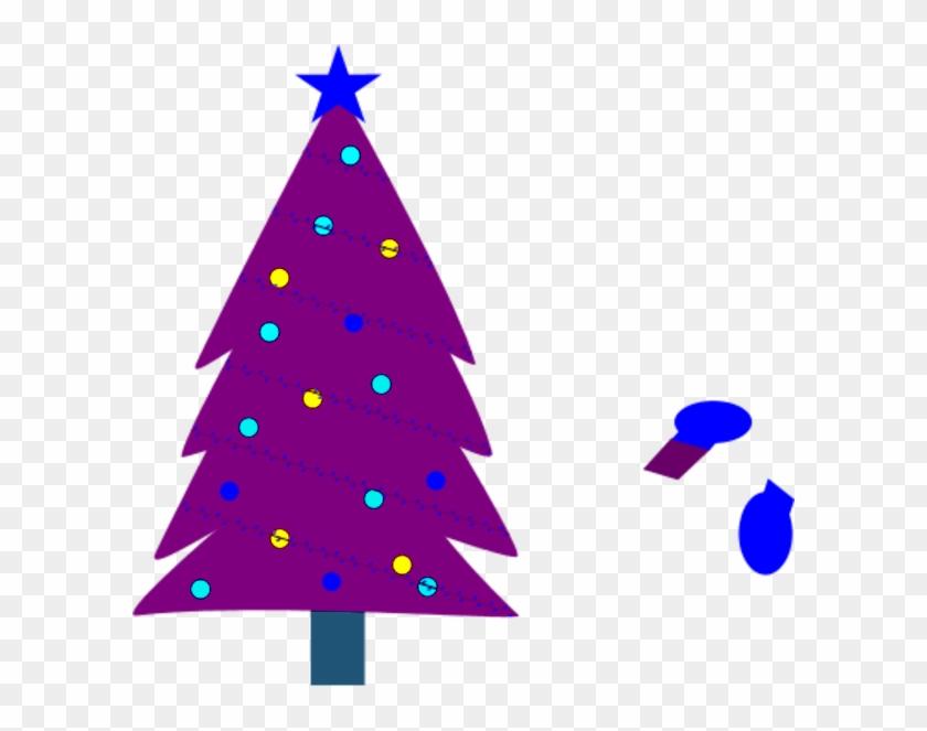 Christmas Tree Clipart Purple - Purple Christmas Tree Clip Art #13406