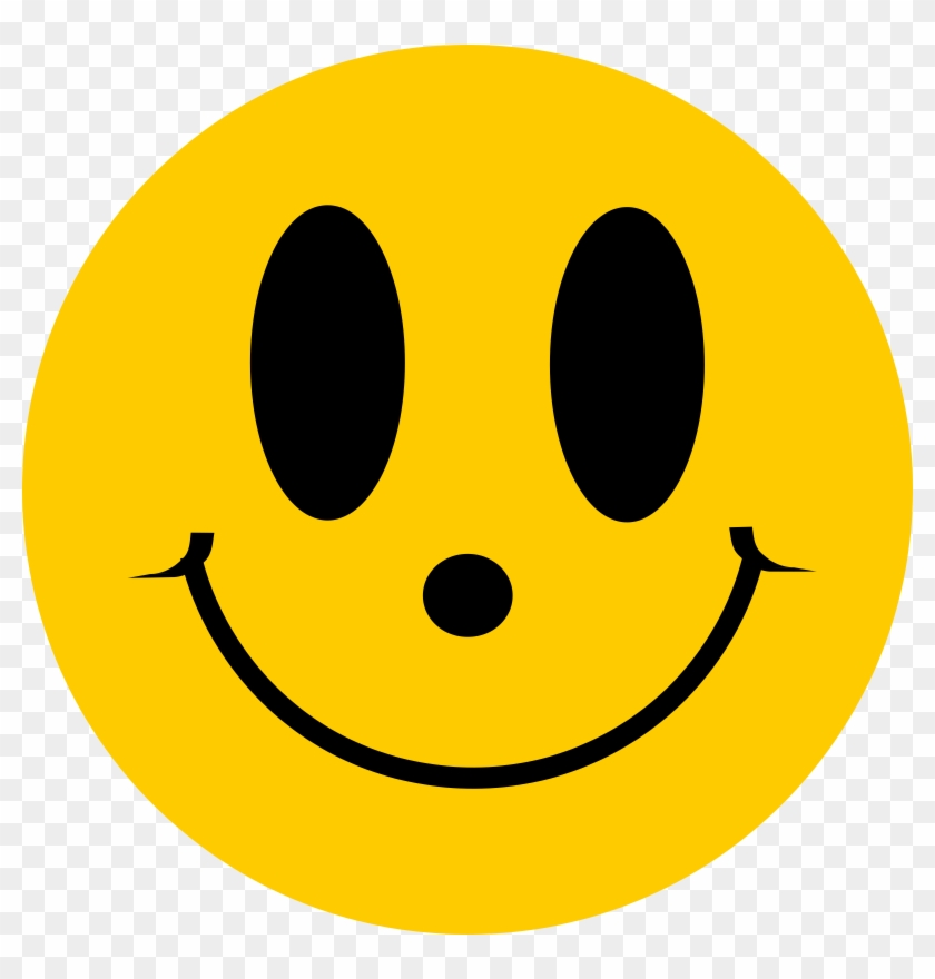 Simple Smiley Face - Smiley Face With Nose #13439