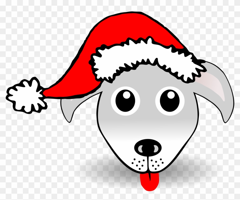 Clip Art Details - Dog In Santa Hat Clip Art #13441