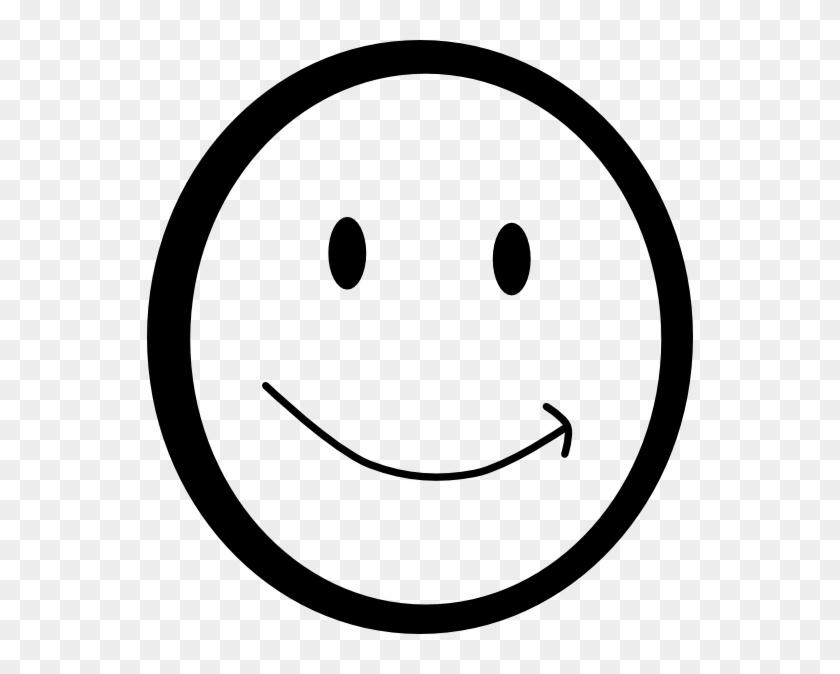 Smiley Face Clipart Black And White - Smile Emoji Black And White #13456