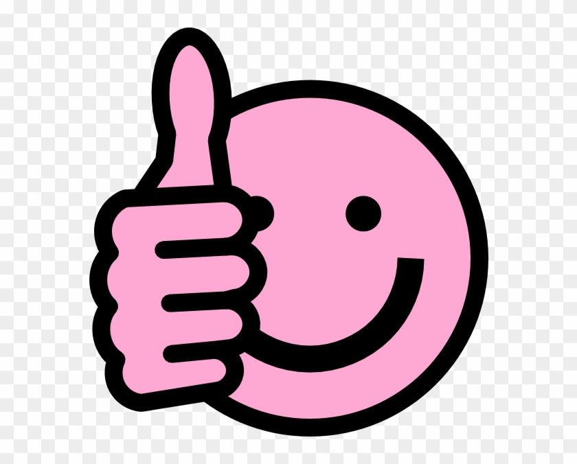 Smiley Face Clip Art Thumbs Up - Pink Thumbs Up Emoji #13458