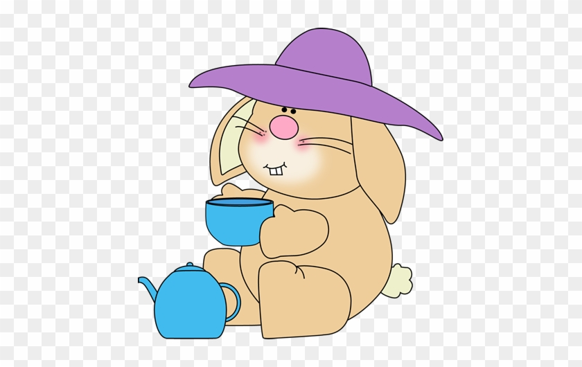 Bunny Having Tea - Easter Tea Clip Art #13475