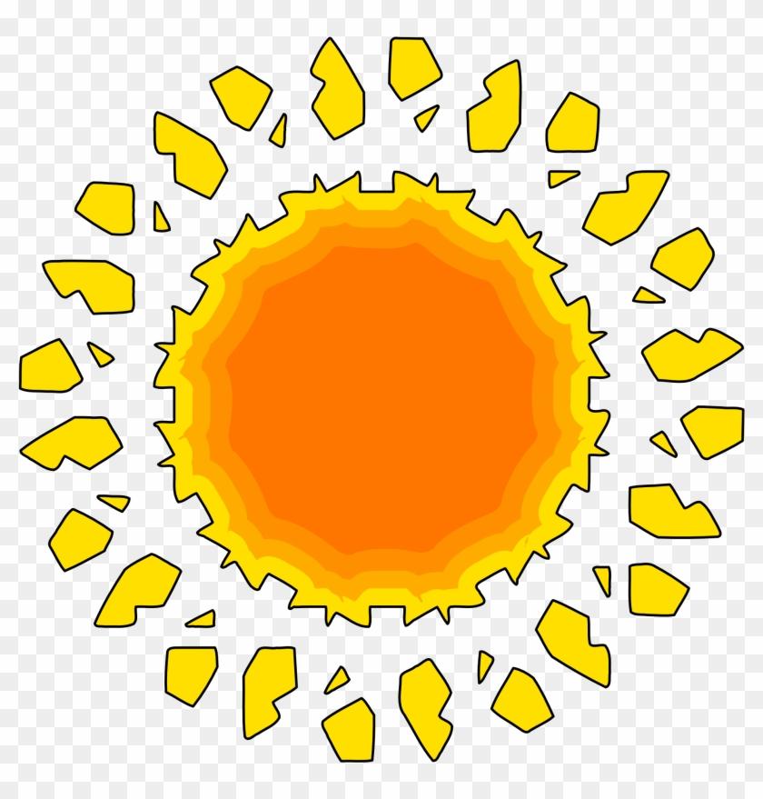 Sunshine Clipart Orange Sun - Icon #13493
