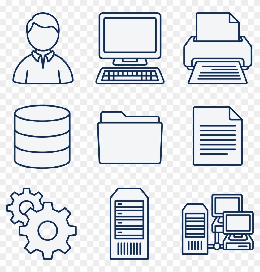 Network Computer Icon Clipart - Que Es Un Sistema Informatico #13506