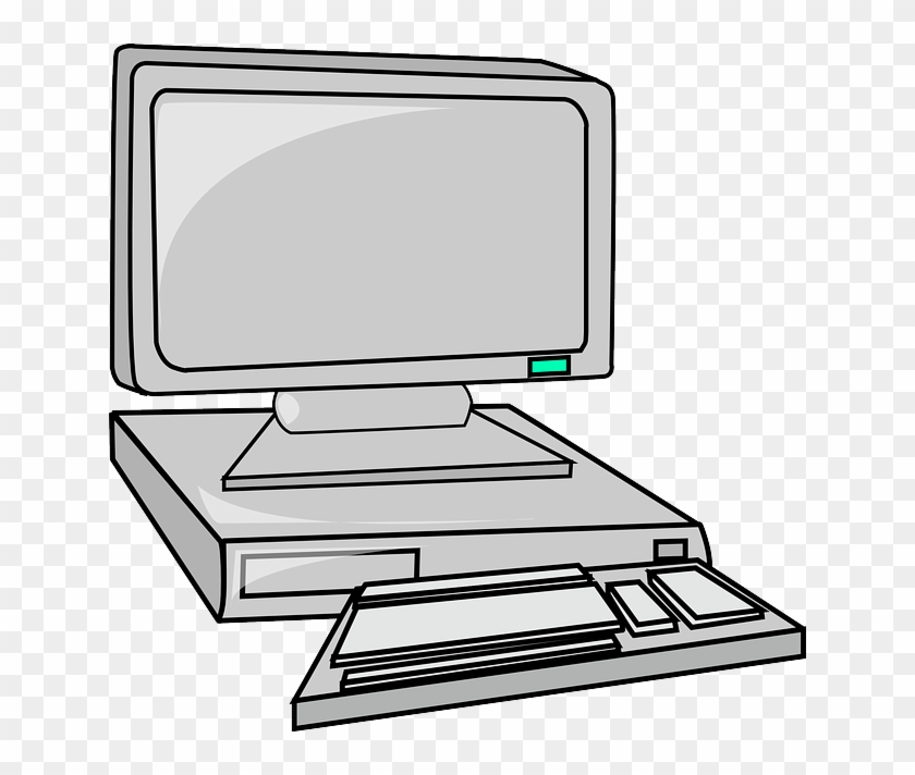 Computer Clipart Grey - Animated Computer #13518