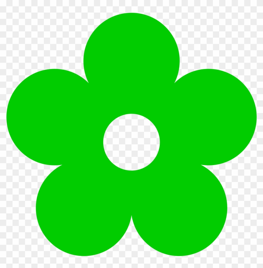 Pigment Clipart - Green Flower Clipart #13560
