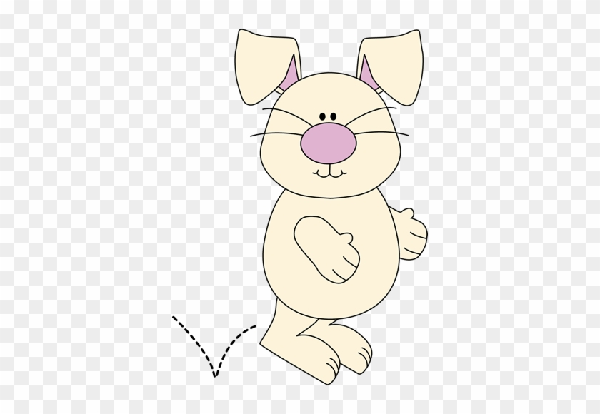 Hopping Bunny - Clip Art #13551