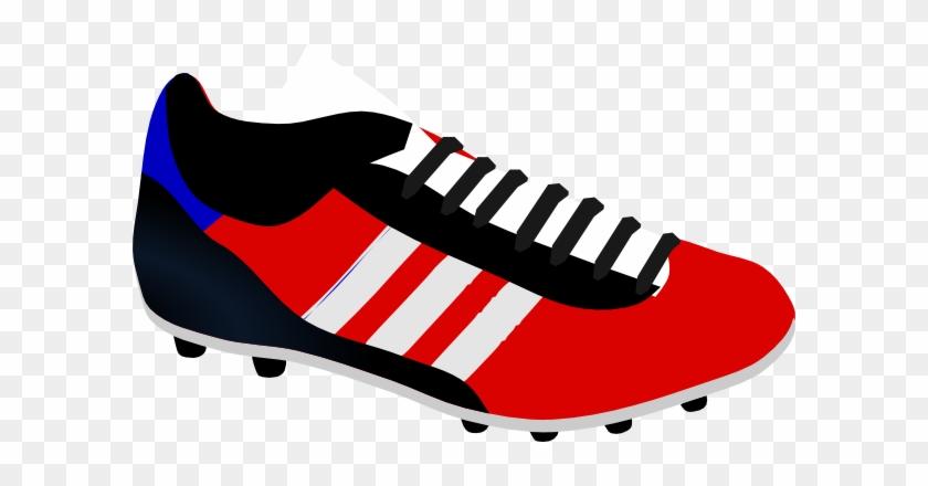 Soccer Boot Clip Art At Clker - Botines De Futbol Dibujo #13584