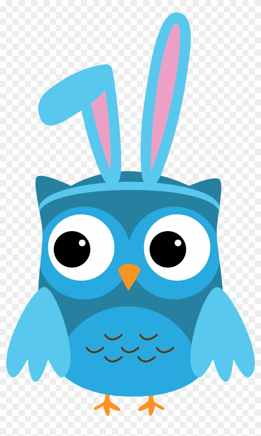 Bunny Owl Clip Art - Eyes Closed Clip Art #13593