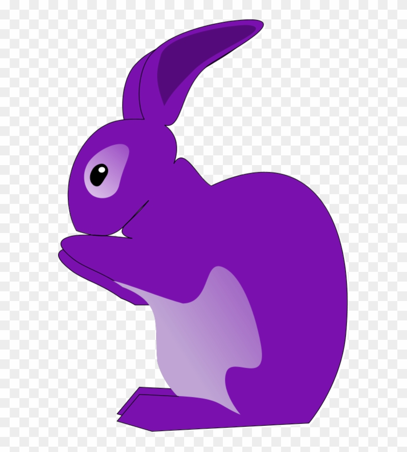Purple Bunny Clipart - Rabbit Clip Art #13602