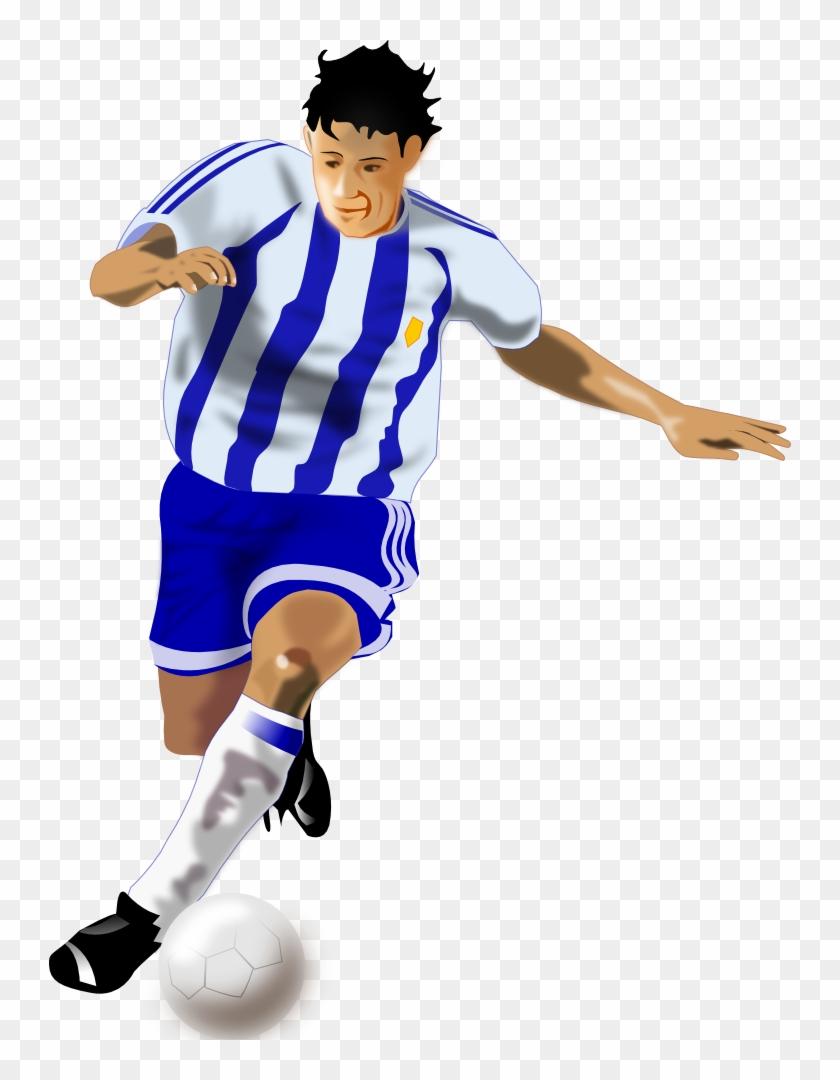 Onlinelabels Clip Art - Football Player Clipart Png #13605