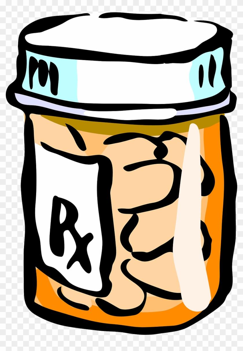 Pill Bottles Clip Art #13631