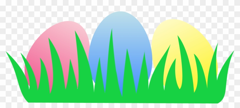 Three Easter Eggs In Grass Free Clip Art Sweetclipart - Easter Egg Clipart Free #13645