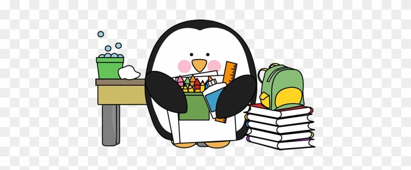 Penguin Class Substitute - Back To School Penguin #13636