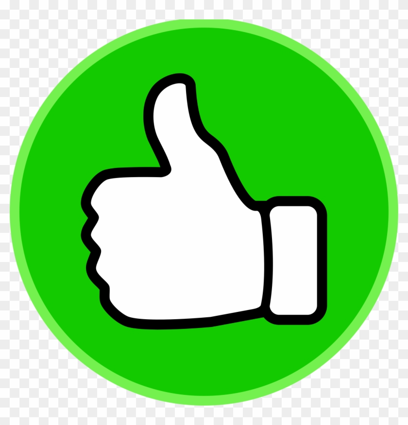Green Thumbs Up Sign #13658