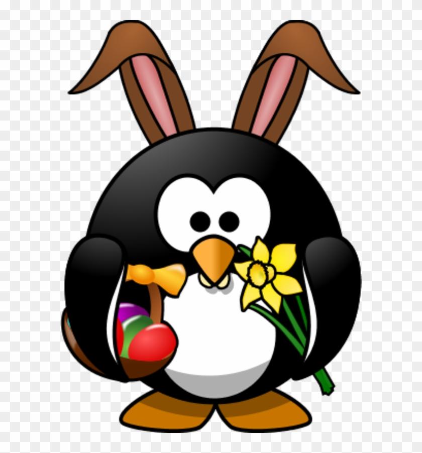 Easter Penguin Png Clip Art - Easter Bunny Penguin Shower Curtain #13715