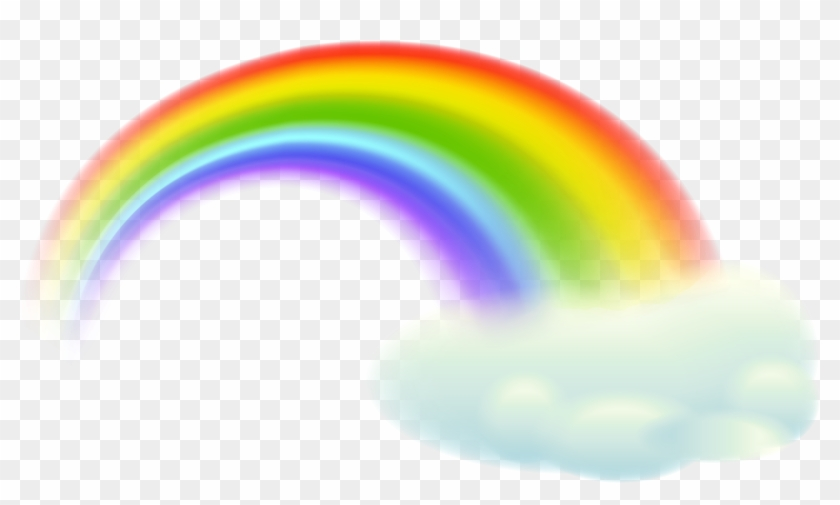 Rainbow Clipart Transparent Pencil And In Color Rainbow - Rainbow And Cloud Clipart #13734