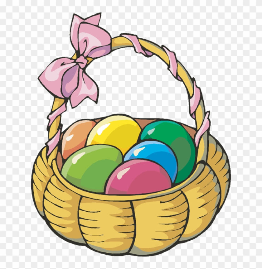 Basket Clip Art - Basket Of Easter Eggs #13724
