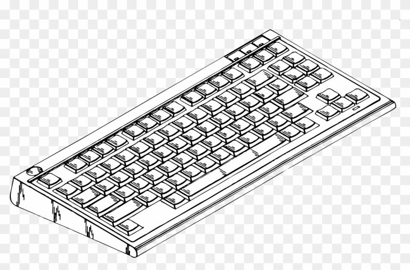 Computer Keyboard Clip Art Big Image New Free - Computer Keyboard Clipart #13758