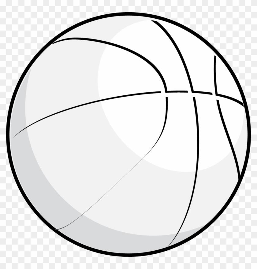 Basketball Black And White House Clipart Black And - White Basketball Ball Png #13775