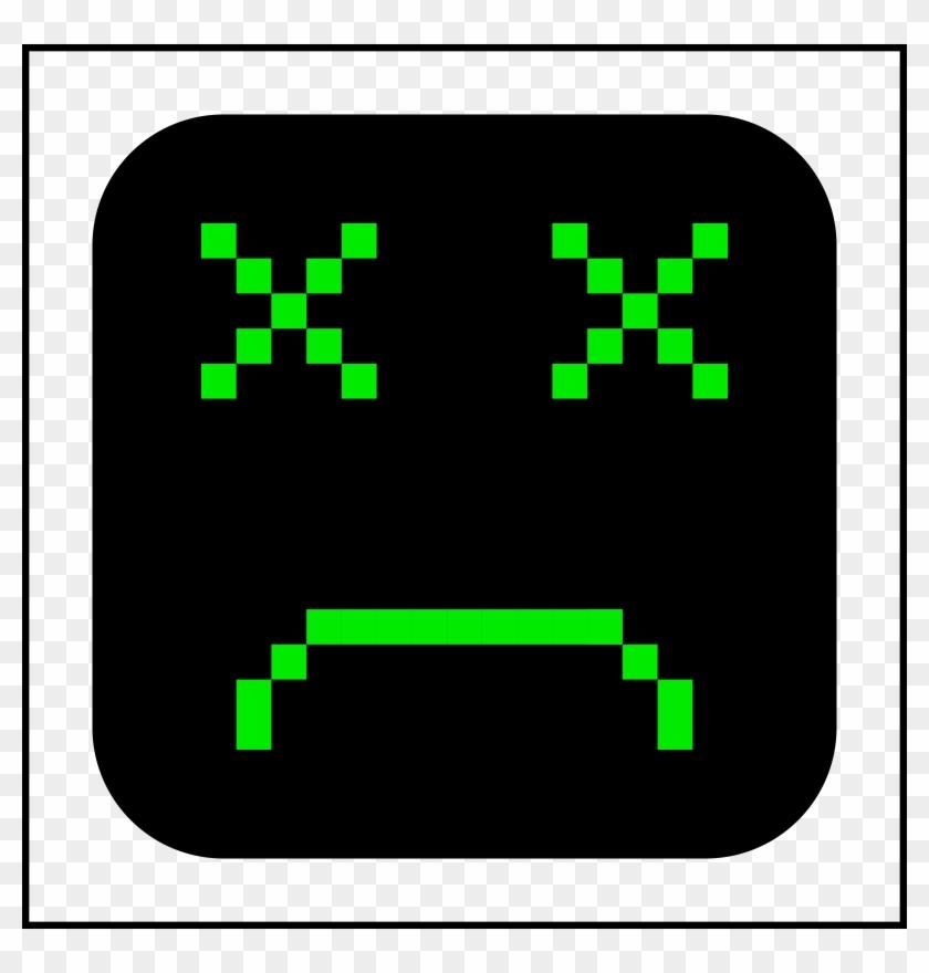 Sad - Computer - Clip - Art - Sad Computer Face #13771