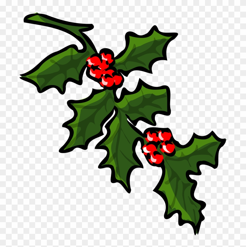 Free Holly - Holly Branch Clip Art #13782